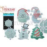 Наклейка Новогодняя 36*22 см со стразами и блестками  5 видов ассорти TZ13039 Tukzar {Китай}