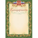 Благодарность А4 с гербом и флагом, рамка лавровый лист КЖ-158 Торговый дом