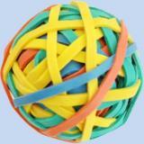 Резинка для денег   69гр 40 мм цветная в форме шара 80348 Centrum {Китай}