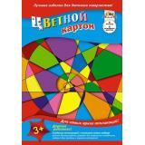 Набор цветного картона А4  6л 6цв