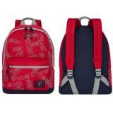 Рюкзак молодежный RQ-921-2/1 красный 32*44*17 см GRIZZLY {Китай}
