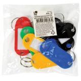 Брелок для ключей 10шт. пластик ассорти KRL-10 LITE {Китай}