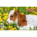 Календарь квартальный 2021 г. 3 спирали 195х465 мм