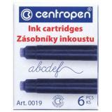 Баллончики для ручек 0019/06 (цена за 6 шт) синий Centropen {Чехия}